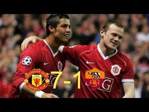 Manchester united 7-1 AS Roma 2007 UCL || Tứ kết lượt về C1