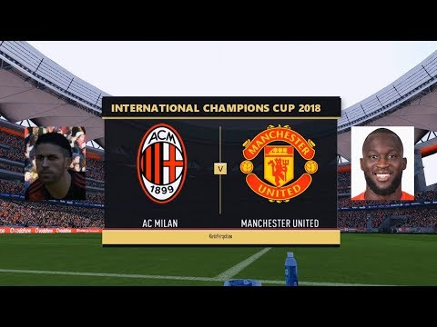 AC Milan vs Manchester United | International Champions Cup 2018 | PES 2017 HD