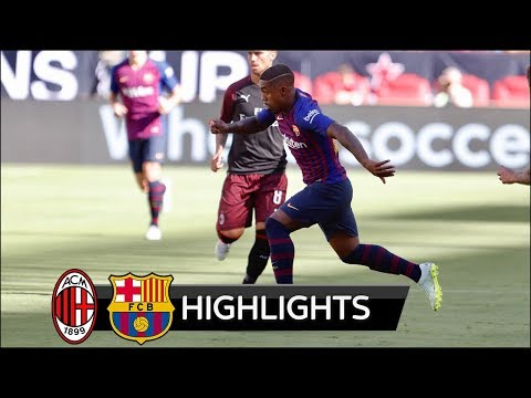 AC Milan vs Barcelona 1-0 – All Goals & Extended Highlights – Friendly 04/08/2018 HD