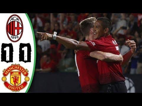 Milan vs Manchester United 1-1 All Goals & Highlights 26/07/2018 HD