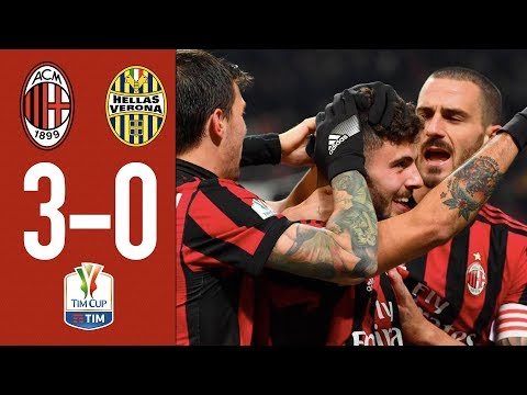 Highlights AC Milan 3-0 Hellas Verona – TIM Cup Round of 16 – 2017/18