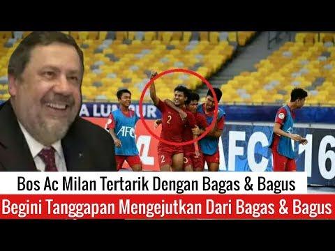 Bos AC Milan Soroti Timnas U-16 Melalui Akun Twitter Resminya. Ini Kata Bagus dan Bagas
