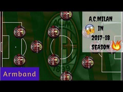 A.C. Milan's New Line-Up For 2017-18 Season ( Most Probable Formation)