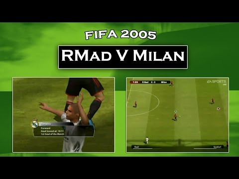 FIFA 2005 Gameplay Real Madrid vs AC Milan
