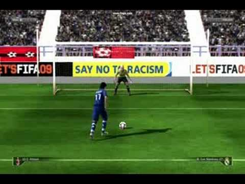 FIFA 09 Demo Penalties AC Milan VS Real Madrid