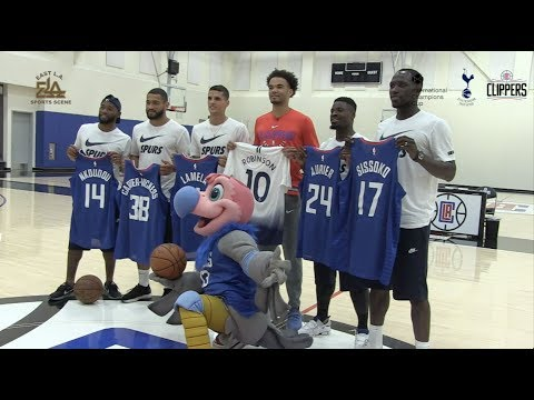 Tottenham Hotspur Visit L.A. Clippers For Unique Training Session | ICC-NBA