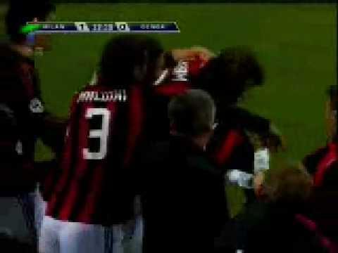 AC Milan vs Genoa 28/01/2009 [BECKHAM GOAL] SERIE A