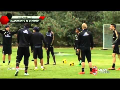 De Jong gets annoyed by his team mates AC Milan 2014