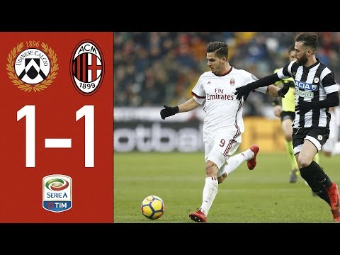 Highlights – Udinese 1-1 AC Milan – Serie A 2017/18