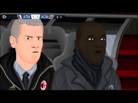 Atlético Madrid 4-1 AC Milan Champions League 11/3/14 Parodia