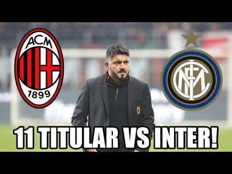 POSIBLE 11 TITULAR DEL MILAN VS INTER! DERBY DI MILANO!