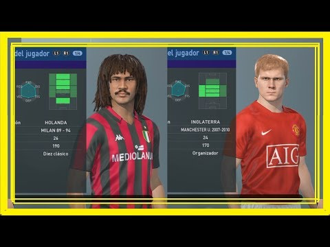 AC MILAN 89-94 & MANCHESTER UNITED 2007-2010 + LINK (PES 2019/ PS4)