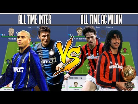 INTER MILAN ALL TIME XI VS AC MILAN ALL TIME XI – FIFA 19 EXPERIMENT