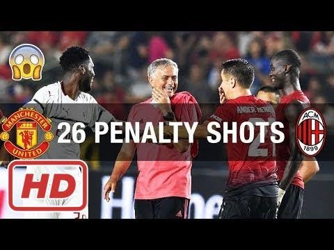 CRAZY! ALL 26 PENALTY SHOTS BETWEEN MANCHESTER UNITED AND AC MILAN | INTERNATIONAL CHAMPIONS CUP –