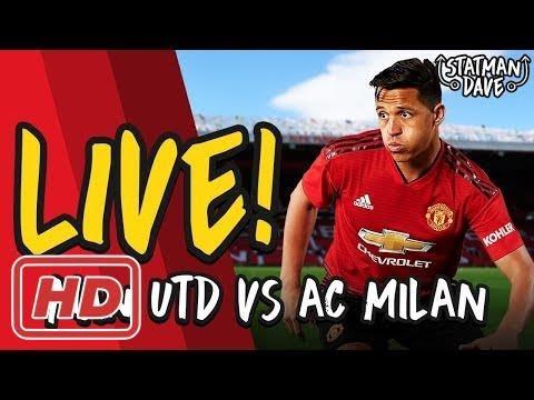 AC Milan 1-1 Manchester United LIVE | Statman Dave Watchalong – Highlights 2018