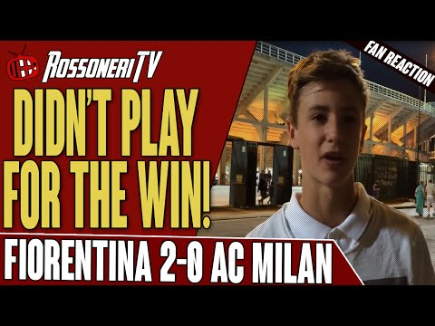 Didn't Play For The Win! | Fiorentina 2-0 AC Milan | Fan Reaction