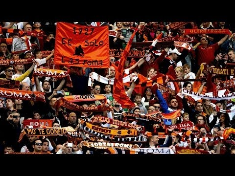 A.S Roma Fans Singing Before A.C Milan Game