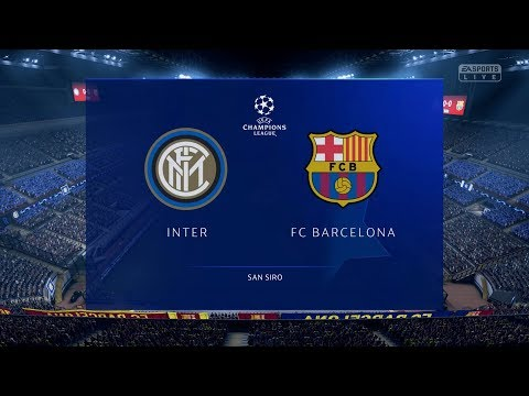FIFA 19 | Inter Milan vs FC Barcelona – UEFA Champions League (Full Gameplay Xbox One X)