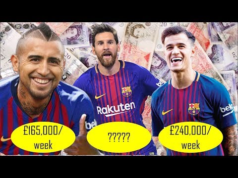 Real Salary Of Barcelona Players In 2018 Weekly Wages