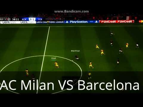AC Milan VS Barcelona 2015