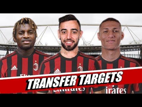AC Milan transfer targets summer 2019