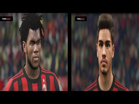 PES 2018 – AC Milan Players Faces