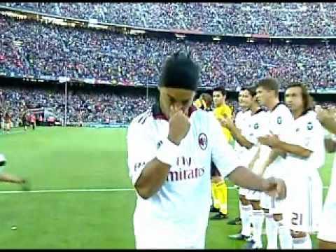 FC Barcelona Vs AC Milan – Ronaldinho Return of the King – 25/08/10