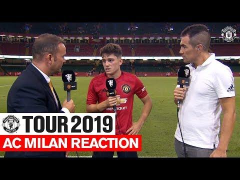 Daniel James Post Match Reaction | Manchester United v AC Milan | ICC | Tour 2019
