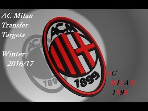 AC Milan TRANSFER TARGETS | Winter 2016/17