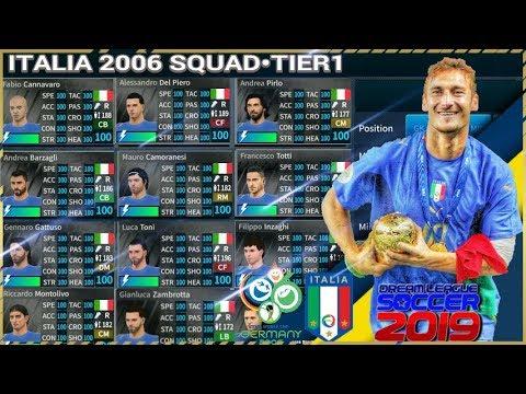 PV|Cách có đội hình Italia WC 2006•Tier 1 By Phonvu •ITALIA 2006 SQUAD•DLS 19