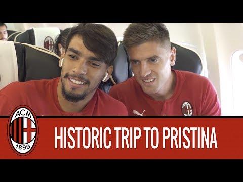 AC Milan's historic trip to Pristina