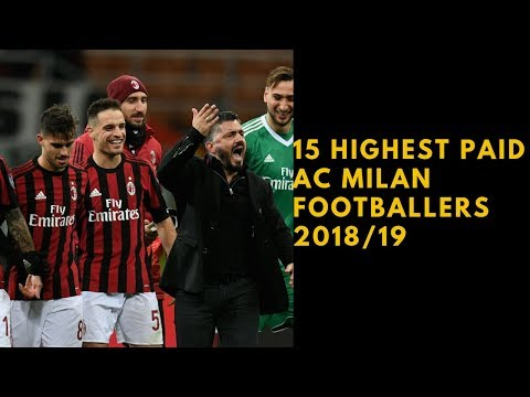 Top 15 Highest Paid AC Milan Football Players (2018-19)
