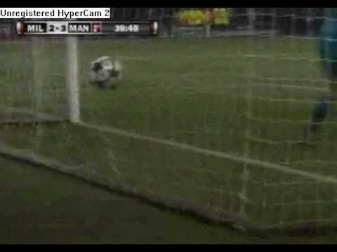 Seedorf great goal – AC Milan vs Manchester United 2-3 – 16-02-2010