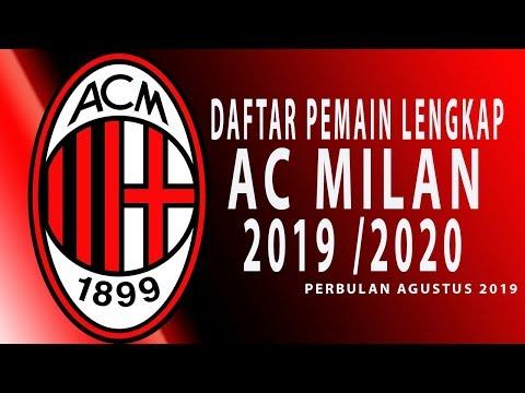 Daftar Squad Lengkap Pemain AC Milan per Agustus 2019