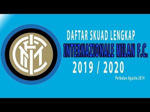 Daftar Squad Lengkap Pemain Inter Milan F.C. per Agustus 2019