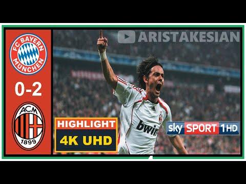 Bayern München v AC Milan: 0-2 (agg: 2-4) #UCL 2007 Quarter-final flashback – 4K UHD