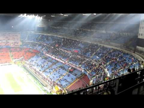 AC Milan fans chanting before the match