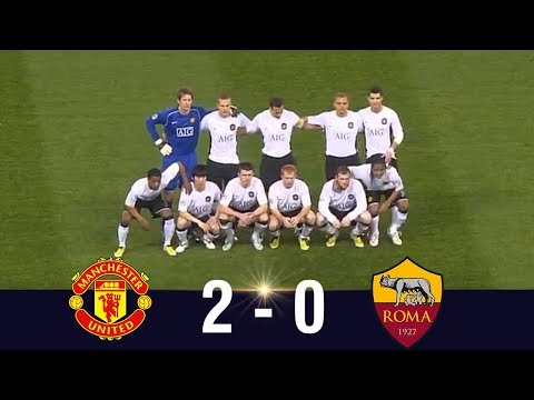 Manchester United vs AS Roma 2008 UCL Quarter Finals – Highlights
