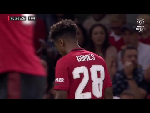 Angel Gomes Manchester United vs AC Milan