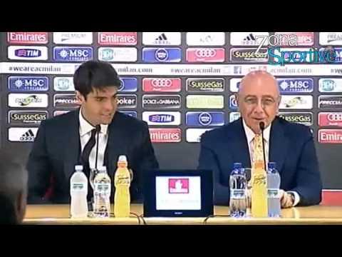 Prezantimi i Ricardo Leite Kakà ne Ac Milan 05/09/2013
