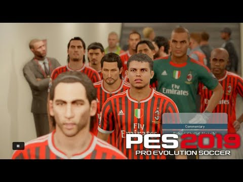 AC Milan 2010 ft Ronaldinho, Beckham And Pirlo PES 2019 | Real Let's Game