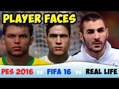[TTB] FIFA 16 vs PES 2016 vs Real Life – Player Faces Comparison