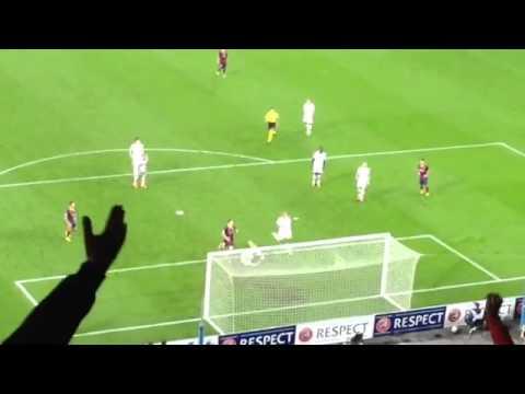 Goal from Leo Messi FC Barcelona vs AC Milan