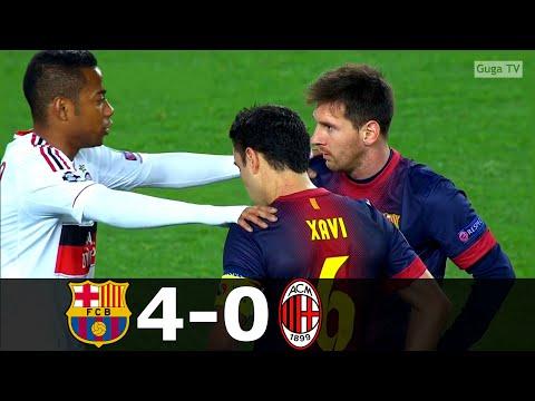 Barcelona vs AC Milan 4-0 – UCL 2012/2013 1/8 Final (2nd Leg) HD