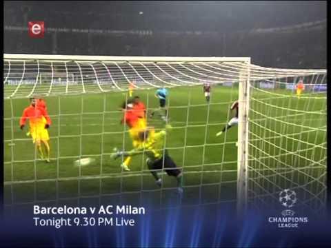UEFA Champions League: Barcelona vs AC Milan (Tonight 12/03/2013)