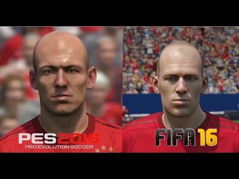 FIFA 16 vs PES 2016 Bayern München Player Faces Comparison