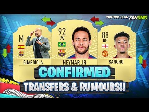 FIFA 20 | NEW CONFIRMED TRANSFERS & RUMOURS!! ?? | FT. NEYMAR, SANCHO, GUARDIOLA..