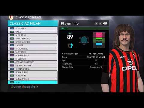LEGENDS LEAGUE- A.C. Milan Classic Squad PES 2018
