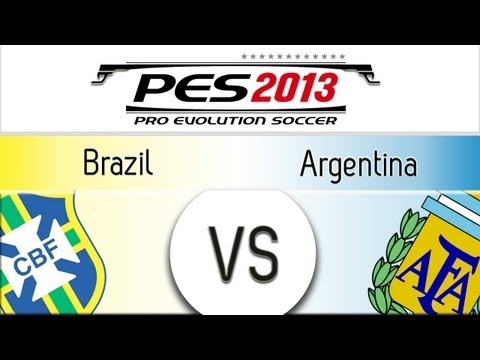 [TTB] PES 2013 Brazil Vs Argentina – Playthrough Commentary, Superstar Difficulty