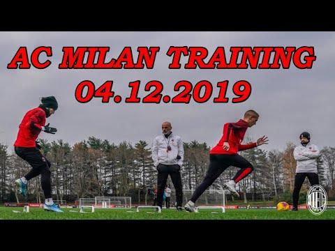 AC Milan Training at Milanello 04.12.2019